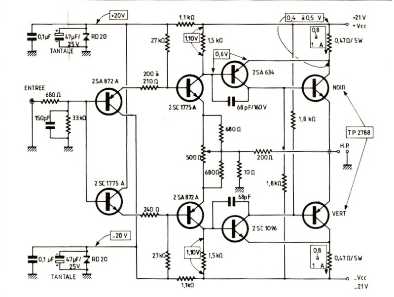 amplificateur audio schema